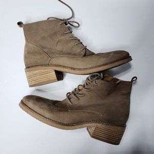 Lucky Brand Tamela Brindle Boots Size 8